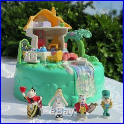 Vintage Polly Pocket Disney ALICE in Wonderland Playset 100% COMPLETE 4 figures