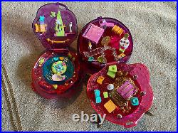 Vintage Polly Pocket JEWEL MAGIC BALL Near Complete 1996 Sparkle Surprise
