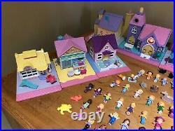 Vintage Polly Pocket Mixed Houses Dolls Figures Bundle