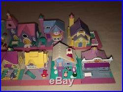Vintage Polly Pocket Pollyville Super Set 1993 Bluebird 26 Figs 10 Buildings Mat