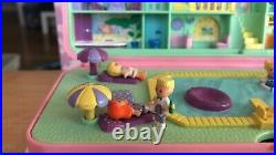 Vintage Polly Pocket Pool Party Hotel Money Box COMPLETE Bluebird 1989