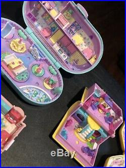 Vintage Rare Polly Pocket Playset Compact Figure Lot Bluebird Hasbro Disney 90s