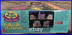Vtg Polly Pocket Pollyville Playsets HTF Rare Deluxe Giftset NIB 14 Mini Dolls